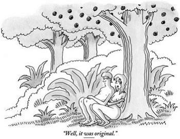 かつて米New Yorker誌のFacebookページ閉鎖のもとになった漫画