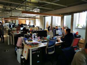北京蒲蒲蘭オフィスの様子